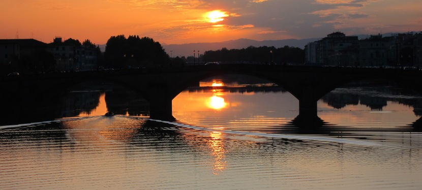 Sunset, the Arno andMe.