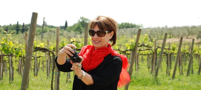 Somewhere in Tuscany.  Doing what I love.