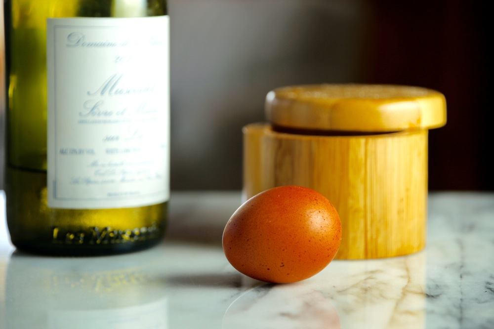 Muscadet and egg bbeeman