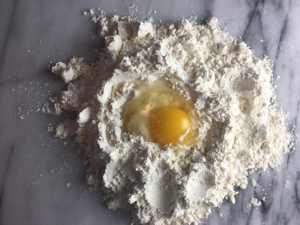 Pasta flour eggs bbeeman