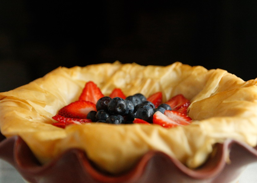 Crispy Phyllo Dough and Berries