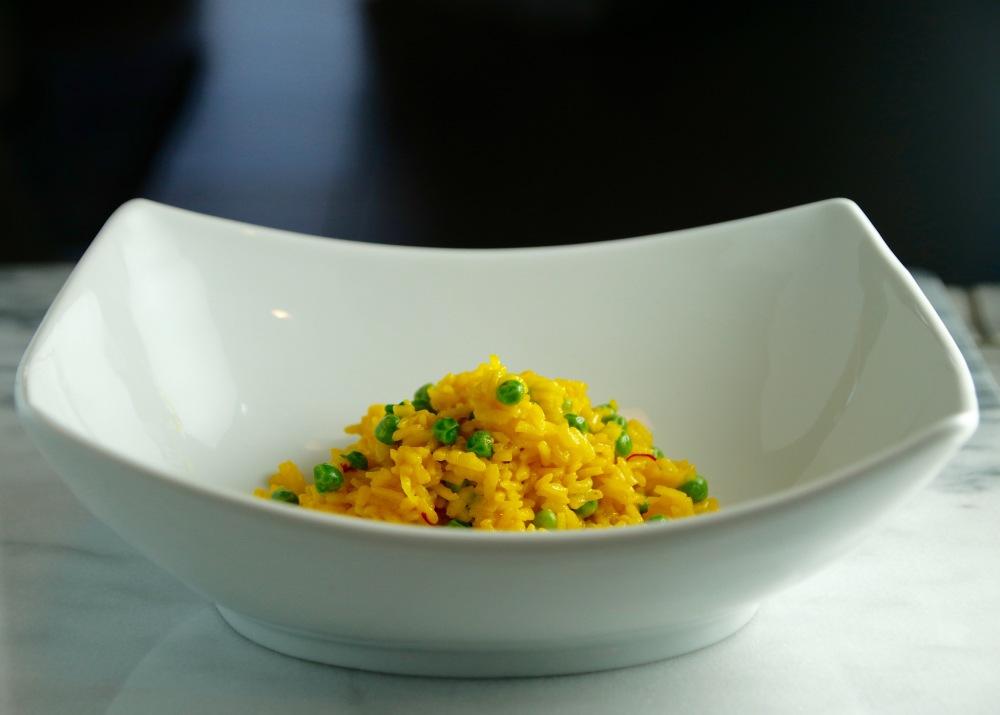 Saffron risotto in bowl bbeeman